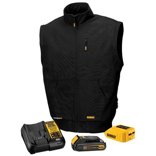 DEWALT DCHJ065C1-3XL 20V/12V MAX Heated Vest Kit, Black, 3X-Large