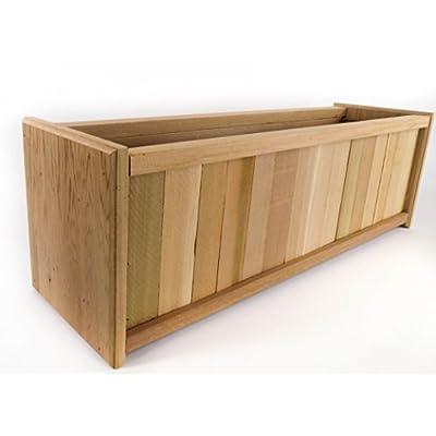 Miller Outdoor Patio Wood Cedar Planter Box - 24 inch - Block-End-Design : Garden & Outdoor