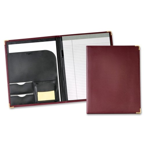 Wholesale CASE of 10 - Cardinal Performers Letter Size Pad Holders-Pad Holder,w/ Writing Pad,Letter,Document Pocket,Burgundy by CRD