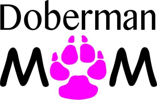 Perfect Doberman Owner Gift- Made in The USA Vinyl Doberman Mom Decal Dog Breed Decal Doberman Pinscher Bumper Sticker