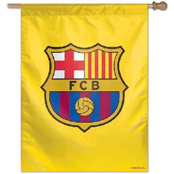 GLUUGES The FC Football Club Hanging Flag Indoor/or Outdoor for Barcelona Fan