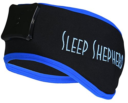 Sleep Shepherd Blue - An Accurate Wearable Sleep Aid and Tracker with Soothing Alarm with iOS/Android App by Sleep Shepherd