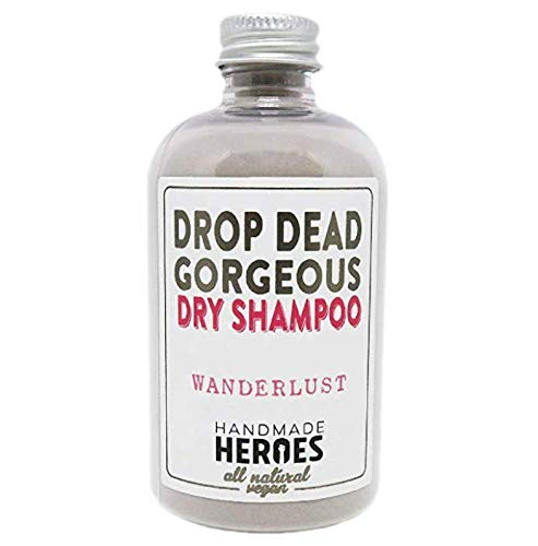 All Natural & Vegan Dry Shampoo – For Medium to Dark Color Hair – Volumnizing Drop Dead Gorgeous Hair Powder – Handmade Heroes Best Dry Shampoos