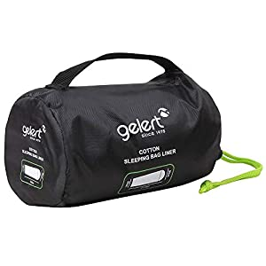 Gelert Single Sleeping Bag Liner White ONESIZE
