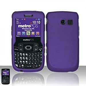 Importer520 Rubberized Snap-On Hard Skin Protector Case Cover for For (MetroPCS/StraightTalk) Samsung Freeform 2 R360/R375c - Purple
