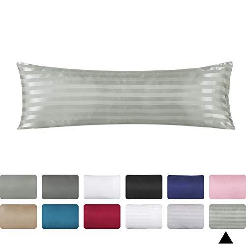 Amazon Com Omelas Grey Striped Body Silk Satin