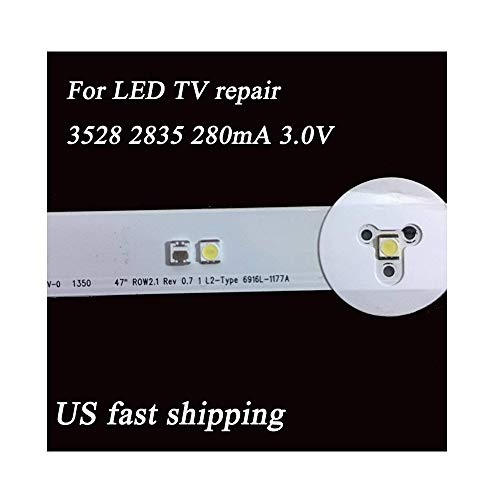 100Pcs 2835 3528 SMD Lamp Beads 3V Specially LED TV Backlight Strip,Repair TV