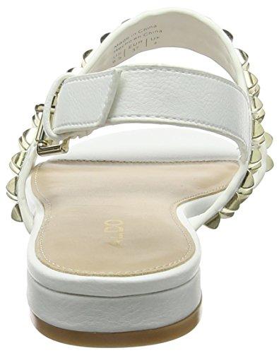 bright 70 Aldo Donna Alla Cadaressa Con Caviglia Bianco Cinturino Sandali White q4rAZwq8