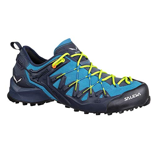 Salewa Wildfire Edge Climbing Shoes - Men's, Premium Navy/Fluo Yellow, 12, - Fluo Footwear Yellow