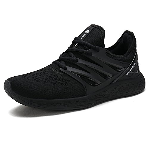 DREAM PAIRS Women's 170330-W All Black Comfortable Soft Lace-up Running Shoes Size 8.5 M US