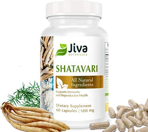 Shatavari Capsules - 1200 mg – Hormone Balance for Women. Breastfeeding Supplement, Lactation Supplement. High in Vitamins & Minerals - by Jiva Botanicals