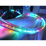 CBconcept 120VLR30FT-Multi 120V 2-Wire 1/2-Inch LED Rope Light with 1.0-Inch LED Spacing, 30-Feet, Multi Color