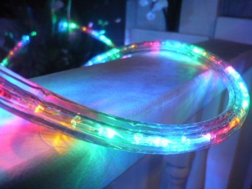 CBconcept 120VLR80FT-Multi 120V 2-Wire 1/2-Inch LED Rope Light with 1.0-Inch LED Spacing, 80-Feet, Multi Color