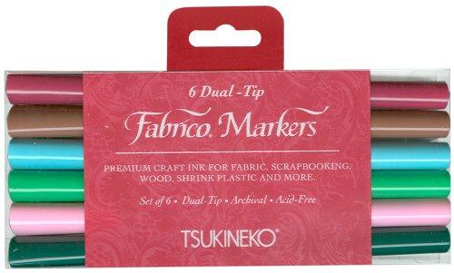 Fabrico Marker Color-Fast, Arboretum, 6-Piece Set (Fabrico Fabric Marker)