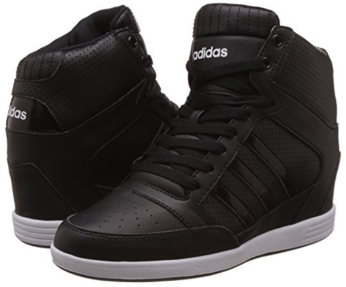 fae31432afc9d adidas neo Women's Super Wedge W Cblack, Cblack and Ftwwht Sneakers - 5  UK/India (38 EU): Buy Online at Low Prices in India - Amazon.in
