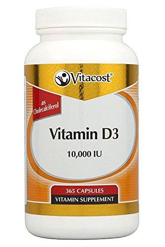 Vitacost Vitamin D3 (as Cholecalciferol) — 10000 IU – 365 Capsules For Sale