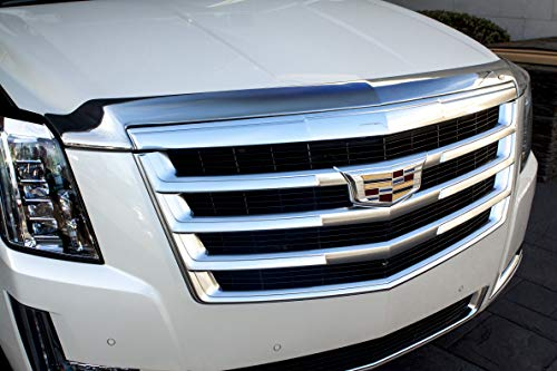 Auto Ventshade 622107 Aeroskin Flush Mount Chrome Hood Protector for 2015-2018 Cadillac Escalade, Escalade - Bug Escalade Cadillac Shield