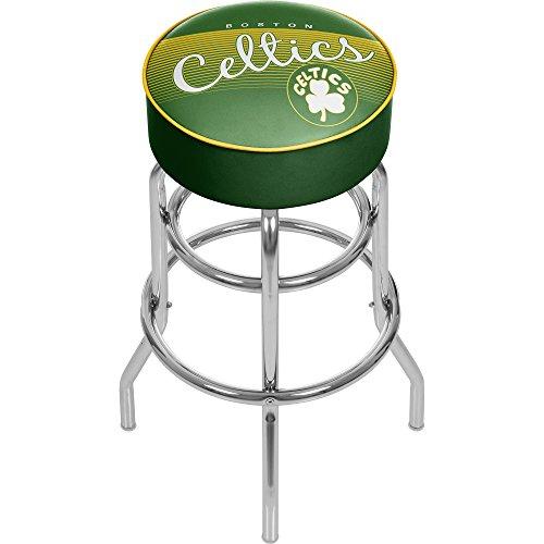 NBA Boston Celtics Hardwood Classics Padded Swivel Bar Stool, One Size, Chrome