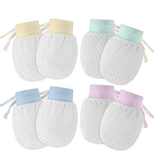 HOSTK 20pair No Scratch mesh Mittens Gloves Newborn Baby Boys Girls breathable cool high elastic adjustable thin