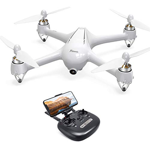 Potensic D80 GPS Drone, RC with 1080P Camera Live Video, Strong Brushless Motors, GPS Return Home, 25 mph High Speed 5.0GHz Wi-Fi Gyro Quadcopter, White
