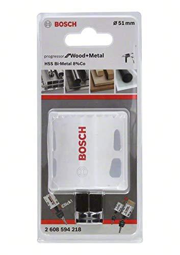 8/% aleaci/ón de cobalto, barra de dientes progresiva, para madera y metales, di/ámetro 51 mm Bosch 2608594218 BiM Progressor Bi Sierra de corona