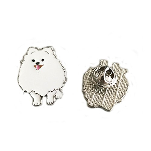 White Pomeranian - Mummumi Pet Brooch,Cute Puppy Dogs Cartoon Brooch Models Series Animal Corsage Metal Samoyed Holiday Christmas Birthday Gift 2PCS (White-Pomeranian)