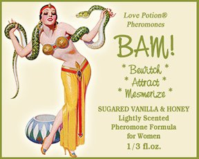 Love Potion BAM ORIGINAL Sugared Vanilla Honey 1 3 Fl. Oz. Lightly Scented Pheromone Blend for Women