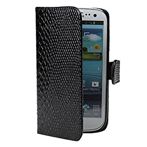 Crocodile Skin PU Leather Case for Samsung Galaxy S3 I9300 (Assorted Color) --- COLOR:White