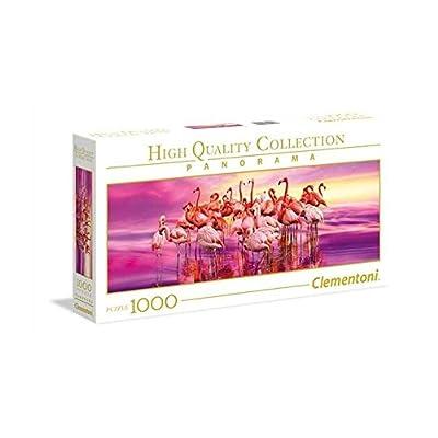 Clementoni High Quality Collection Panorama Puzzle Flamingo Dance 1000 Pezzi 39427