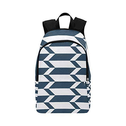 IIAKXNB Jacobs Ladder Arrow Block Flooring Blue Casual Daypack Travel Bag College School Backpack Mens Women