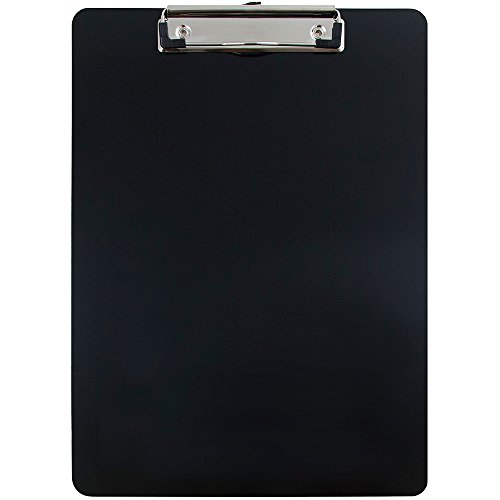JAM Paper Aluminum Clipboards - 9 x 13 in - Black Clipboard - Sold Individually Vinyl Clipboard