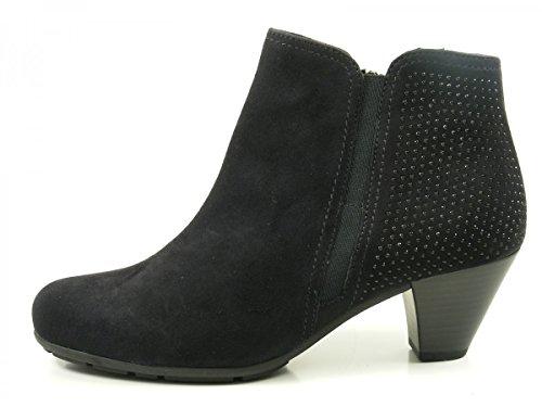 Gabor 75-641 Botines de cuero para mujer Ankle Boots Blau