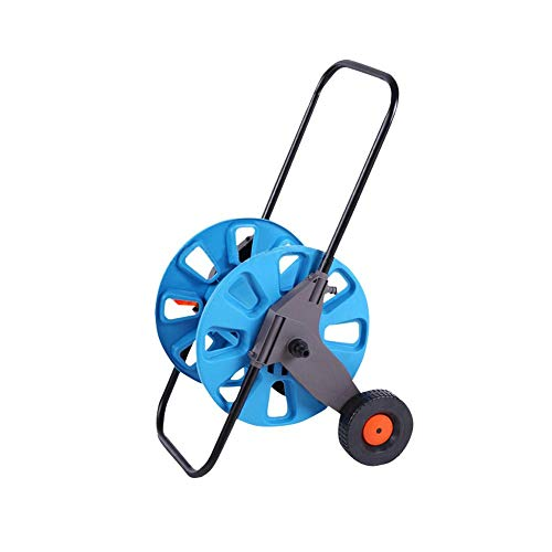 IMSHI 2-Wheel Garden Hose Reel Cart - Portable Garden Water Hose Reel Cart with Wheels - Hand Push Garden Farm Hose Reel Storage Rack Portable Washing Bracket (2 Hose Reel Wheel)
