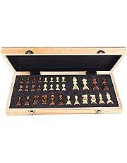 Lixada المحمولة الخشبية المغناطيسية الشطرنج المجلس القابل للطي لعبة الشطرنج مجموعة الشطرنج الدولية للحفلات الأنشطة العائلية