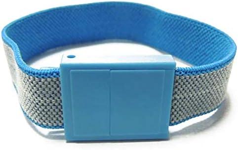 schnelle und kontinuierliche Ableitung statischer Ladung bequem ESD Stoffarmband mit weiblichem Druckknopf