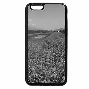 iPhone 6S Case, iPhone 6 Case (Black & White) - Flowering Pond