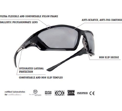 Bolle Tactical SWAT Ballistic Sunglasses - Smoke Lens Black Frame Bolle  Safety SWATPSF 77af604acf