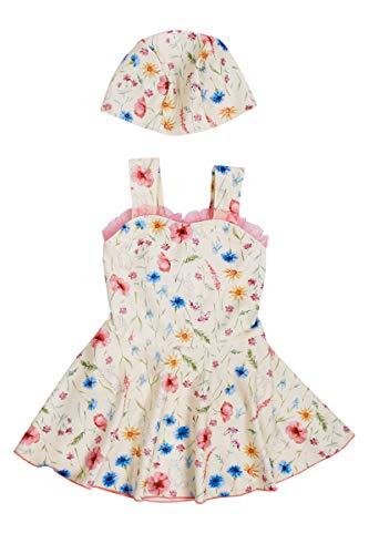 【 Gelato toddler 】 수채화 식물 꽃 여 아 원피스 수영복 / 【Gelato toddler】 Watercolor Botanical Flower Girl One Piece Swimsuit