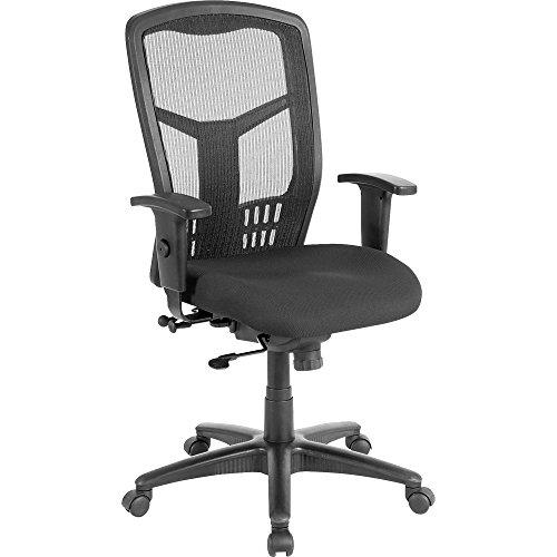 Lorell 86205 Exec High-Back Swivel Chair, 28-1/2 x 28-1/2 x 45, (Mesh High Back Lounge Chair)