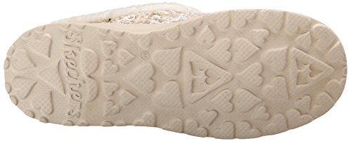 Skechers CherishPomp & Circumstance - pantuflas de lona mujer beige - Beige (Nat)