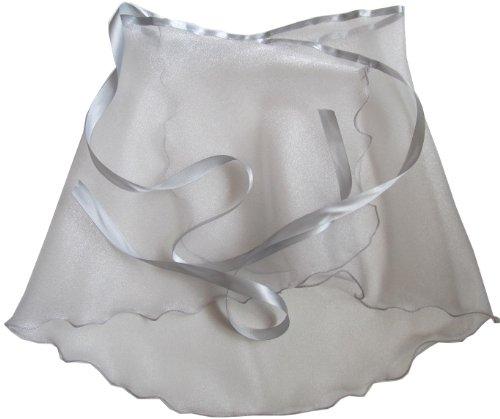 Ice Princess Silver Crystal Organza Wrap Ballet Skirt