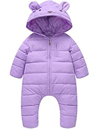 4519c9f550dd1 Little Unisex Baby Hooded One Piece Puffer Jacket Jumpsuit Winter Warm  Snowsuit Romper