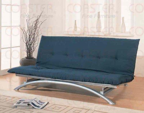 coaster-metal-futon-frame-silver-finish