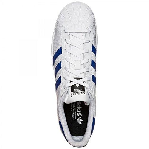 Adidas Mænds Superstjerne Hk, Ftwwht / Boblue / Boblue, 6,5 M Os
