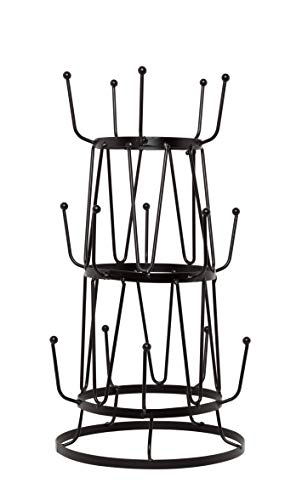 Useful. UH-MT304 Mug Tree Stand Display or Storage Purpose for Kitchen Counter, Coffee Table, or Cabinet Storage (Black)