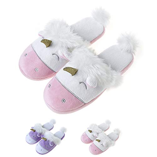 Women's Plush Unicorn Animal Slippers Only $11.88 **Today Only**