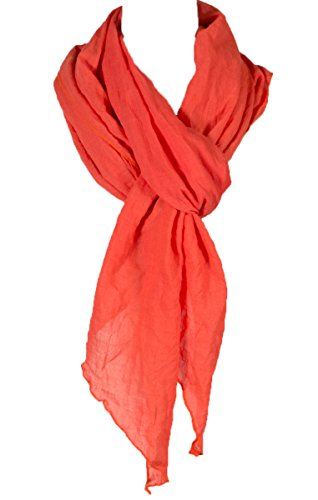 Cotton Solid Color wrinkle Linen Scarf, fashion scarf, multi color, beach scarf - Fashion Linen