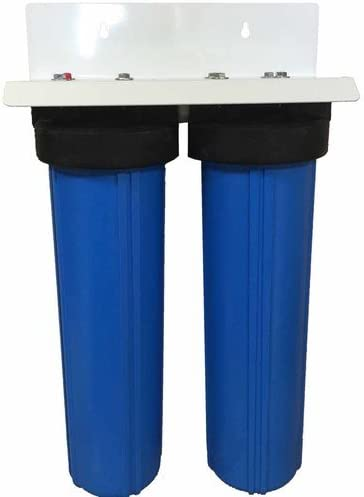 20 2 Stage Big Blue KDF-85 Whole House Complete Water Filter System with Sediment and GAC KDF 85 Filters