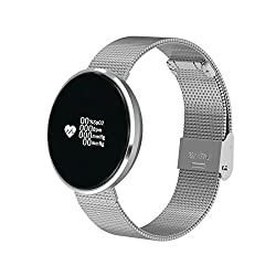 Bluetooth Smart Watch With Message Remind,Heart Rate Monitor,Pedometer For Android Samsung And Ios (Silver)