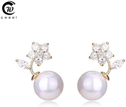Glucky : Flower Jewelry For Women Vintage African Crystal Gold Plated Earrings Egyptian Wedding Trendy Accessories Simulated Pearl Party